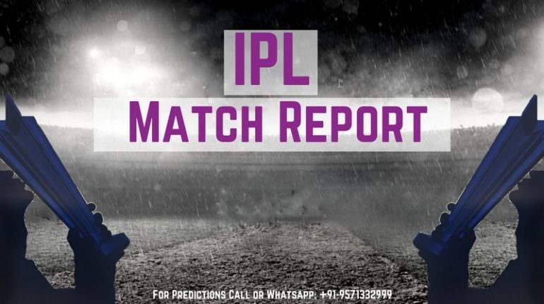 IPL Match Report