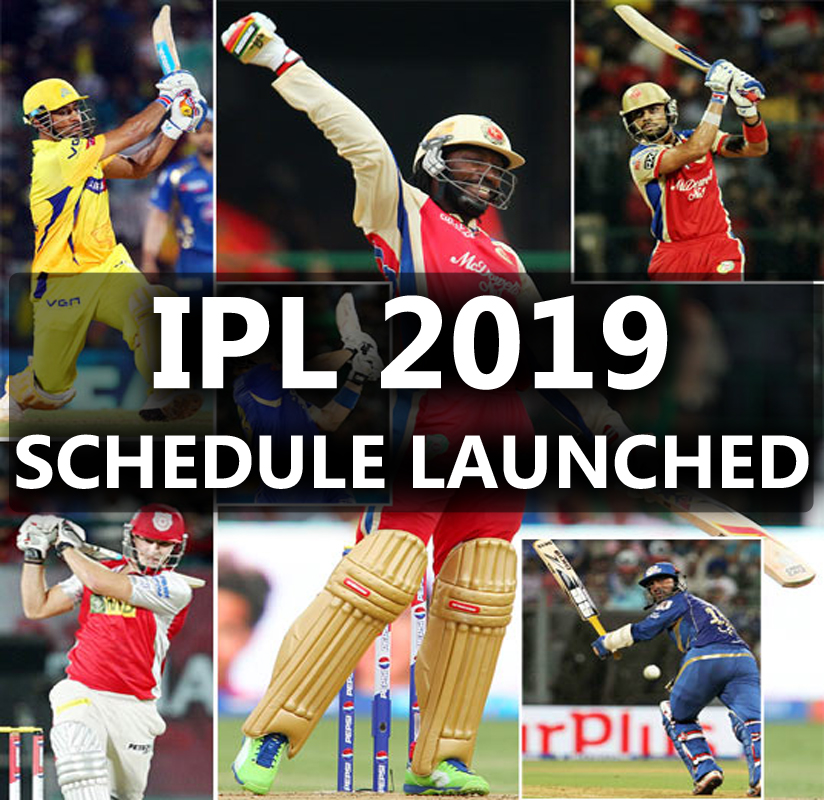 IPL 2019 Schedule Announced By BCCI (First 2 Weeks