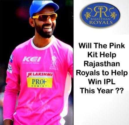 pink kit help rajasthan to win ipl