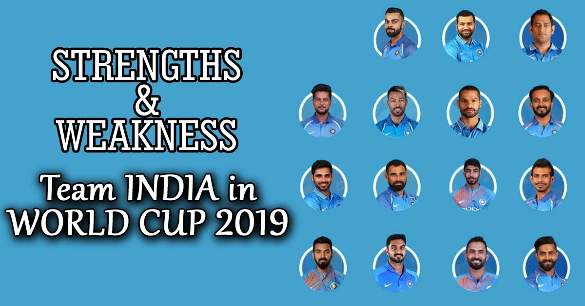 Astrology Analysis of the Strength and Weakness of the Indian Cricket Team in World Cup 2019?