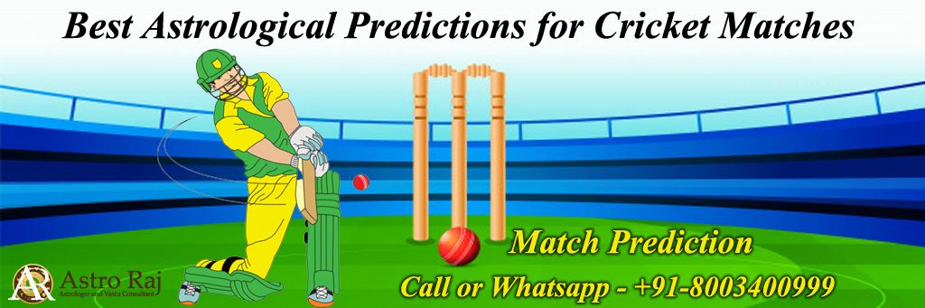 Astrological predictions for cricket match