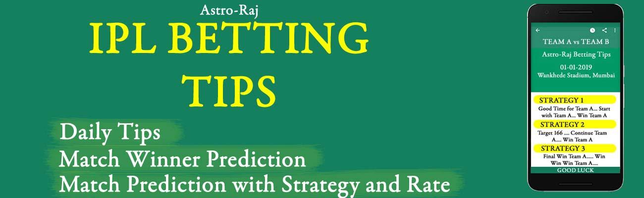 IPL Tips - Betting Tips, Predictions, and Session by Astrology