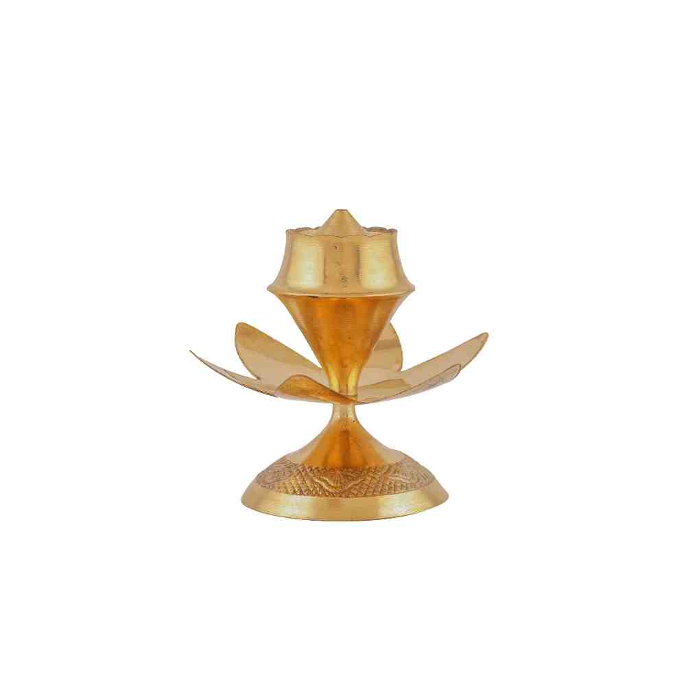 Agarbatti Stand Flower Design in Brass