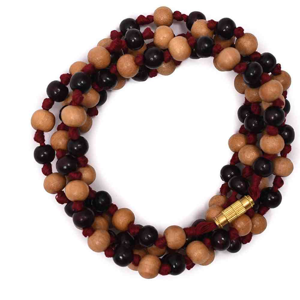 Hand knotted Chandan mala (Red Thread)