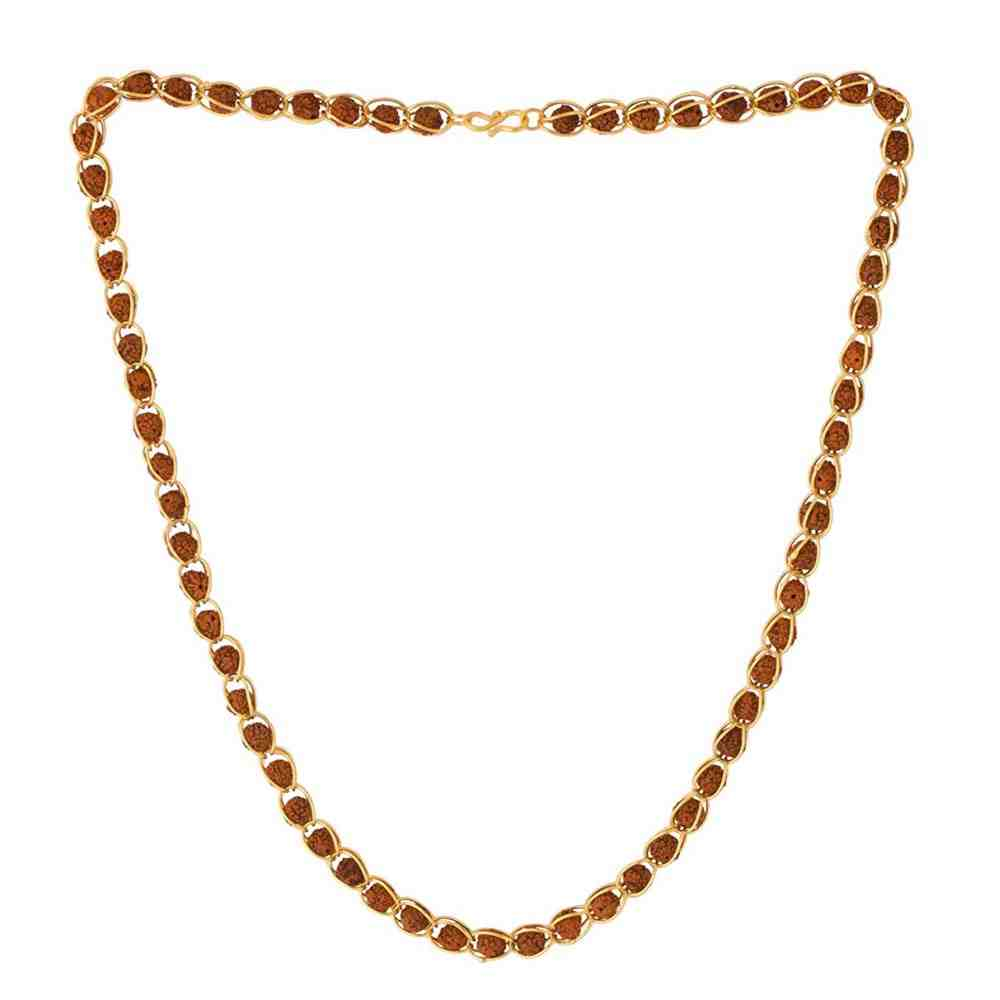 Rudhraksha Mala With Gold Plated