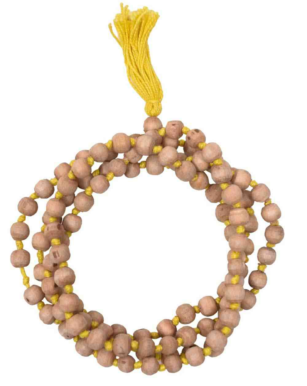 Tulsi Mala In Yellow Thread