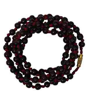 Chandan Japa Mala In Hand Knotted Red Thread