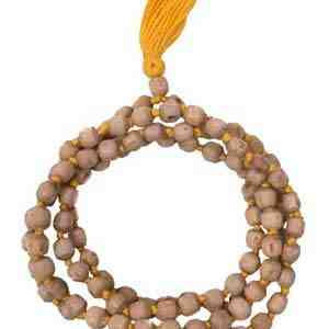 Tulsi Japa Mala In Yellow Thread